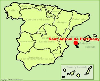 Sant Antoni de Portmany Location Map