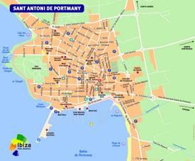 Sant Antoni de Portmany Tourist Map