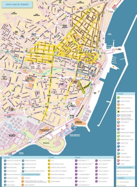 Santa Cruz de Tenerife tourist map