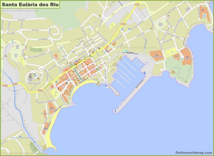 Detailed Map of Santa Eulària des Riu