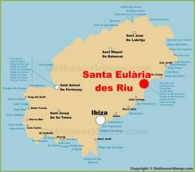 Santa Eulària des Riu Location On The Ibiza Map