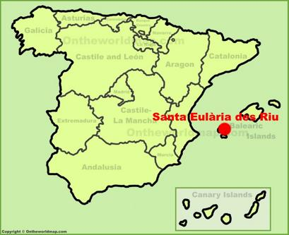 Santa Eulària des Riu Location Map