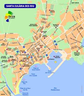 Santa Eulària des Riu Tourist Map
