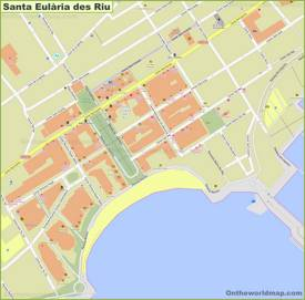 Santa Eulària des Riu Town Center Map