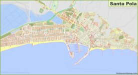 Detailed map of Santa Pola