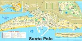 Santa Pola tourist map