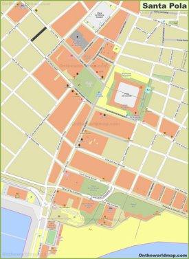 Santa Pola Town Center Map