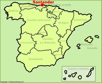 Santander Location Map