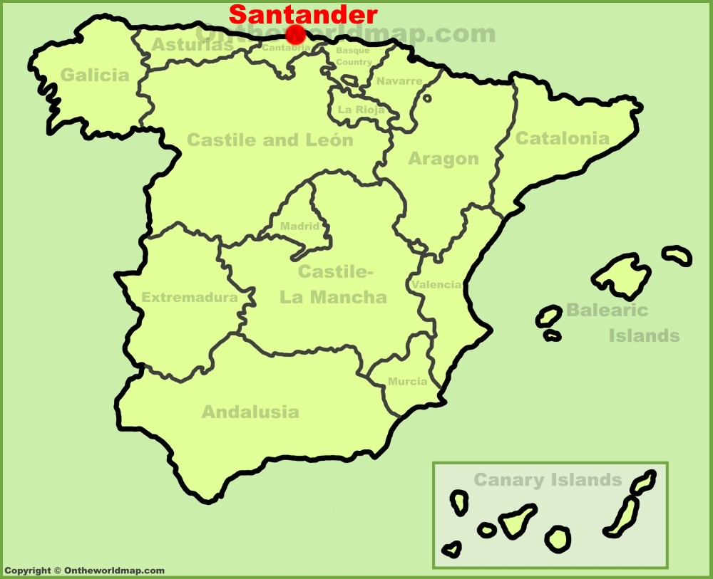 Santander Maps Spain Maps of Santander