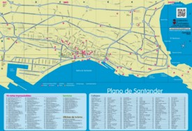 Santander sightseeing map