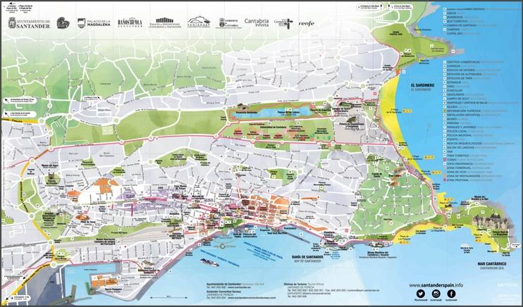 Santander tourist map