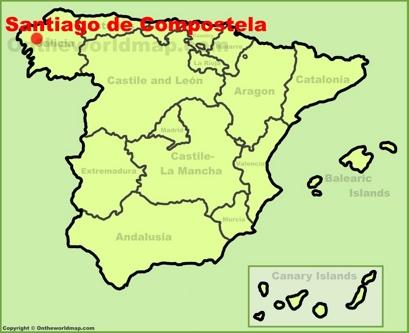 Santiago de Compostela Location Map