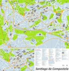 Santiago de Compostela Maps Spain Maps of Santiago de Compostela