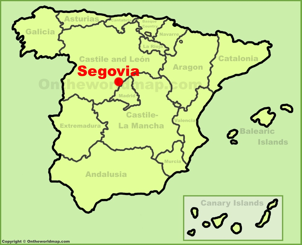 Segovia Maps Spain Maps of Segovia