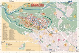 Segovia old city map