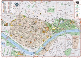 Seville city center map