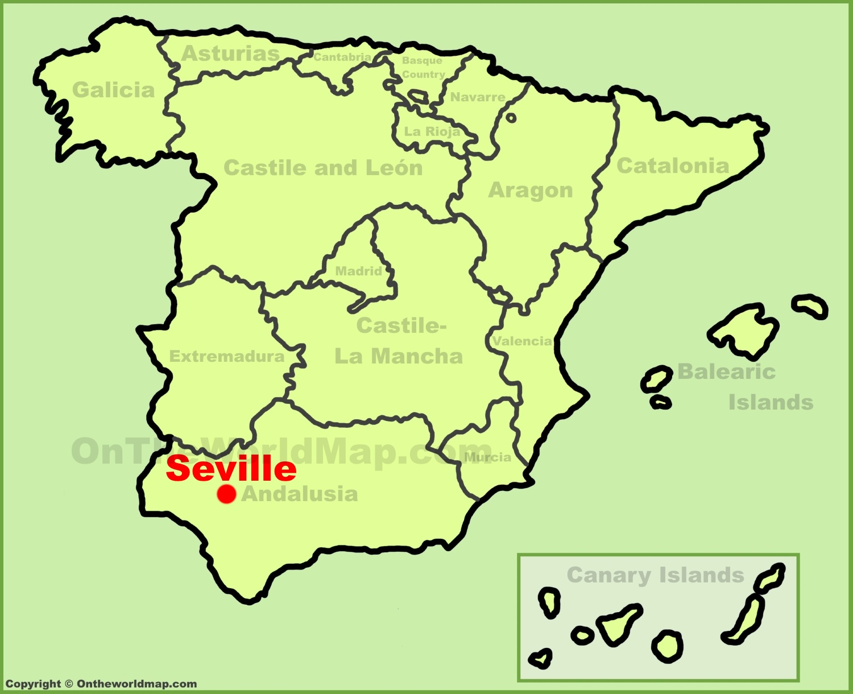 Seville Spain Map Seville Maps | Spain | Maps of Seville (Sevilla)