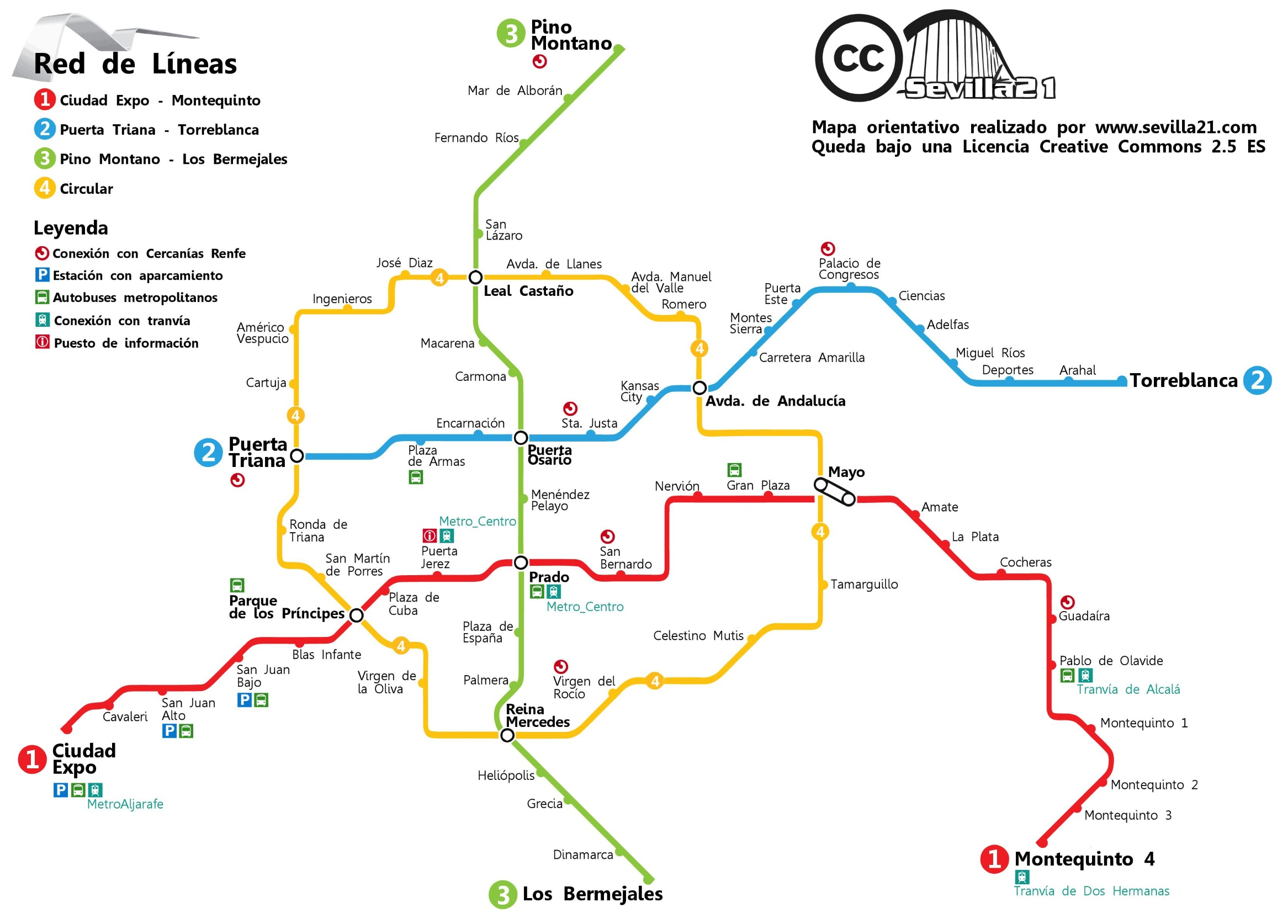Seville Subway Map.Seville Metro Map