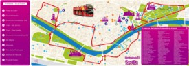 Seville sightseeing map