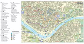 Seville tourist attractions map