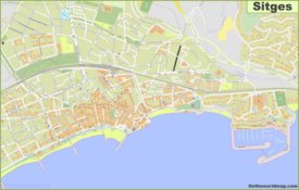 Detailed map of Sitges
