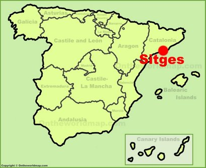 Sitges Location Map