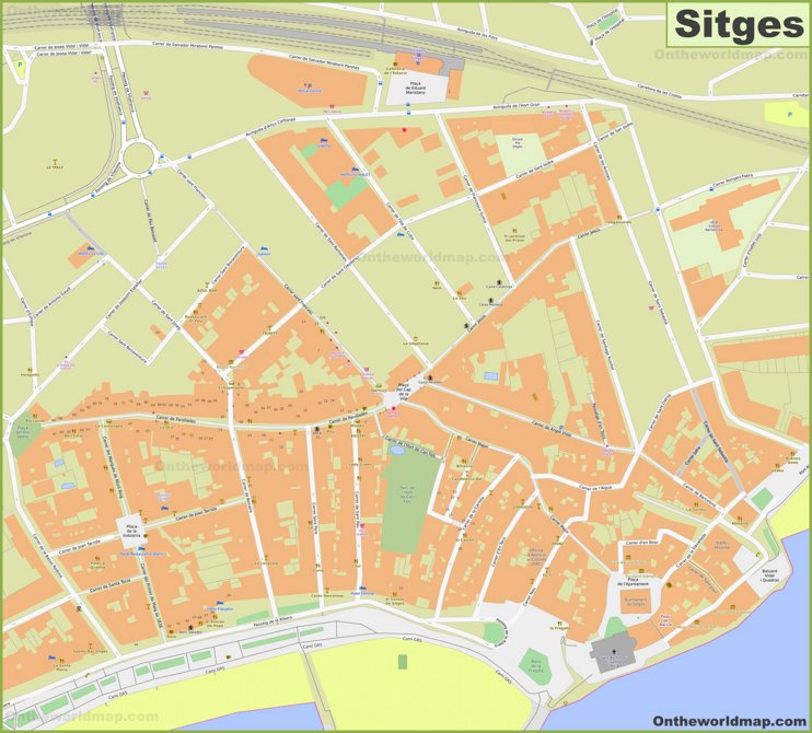 Sitges Town Center Map