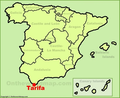 Tarifa Location Map
