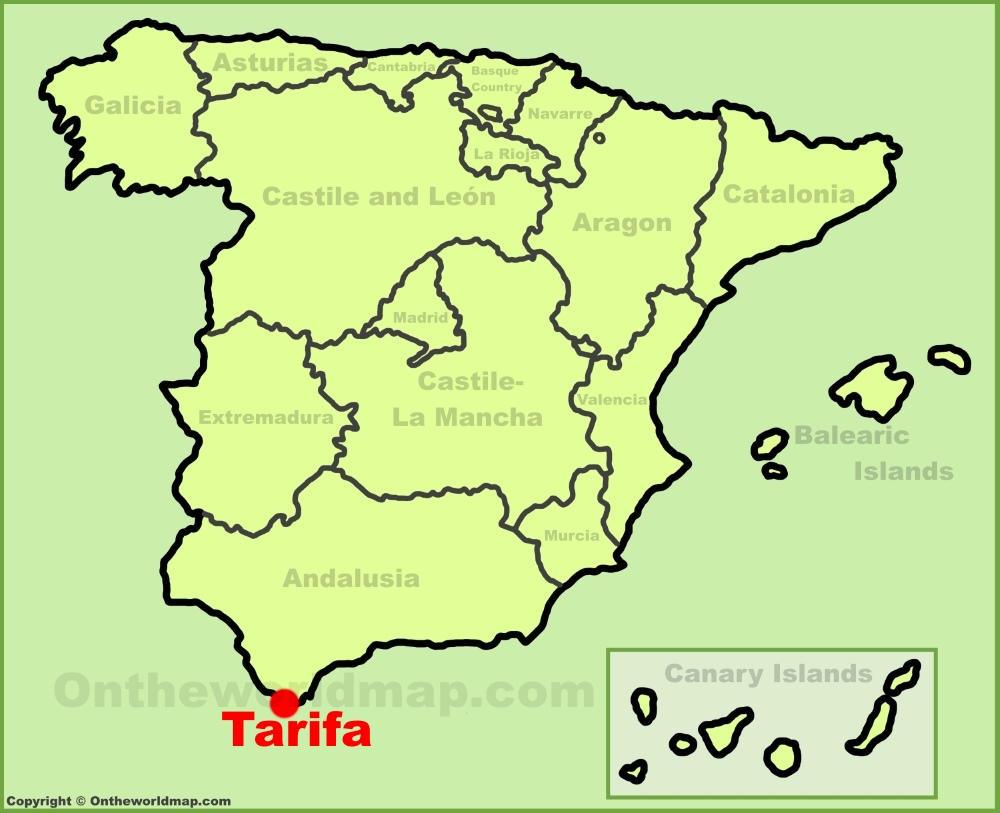 Tarifa Maps Spain Maps Of Tarifa