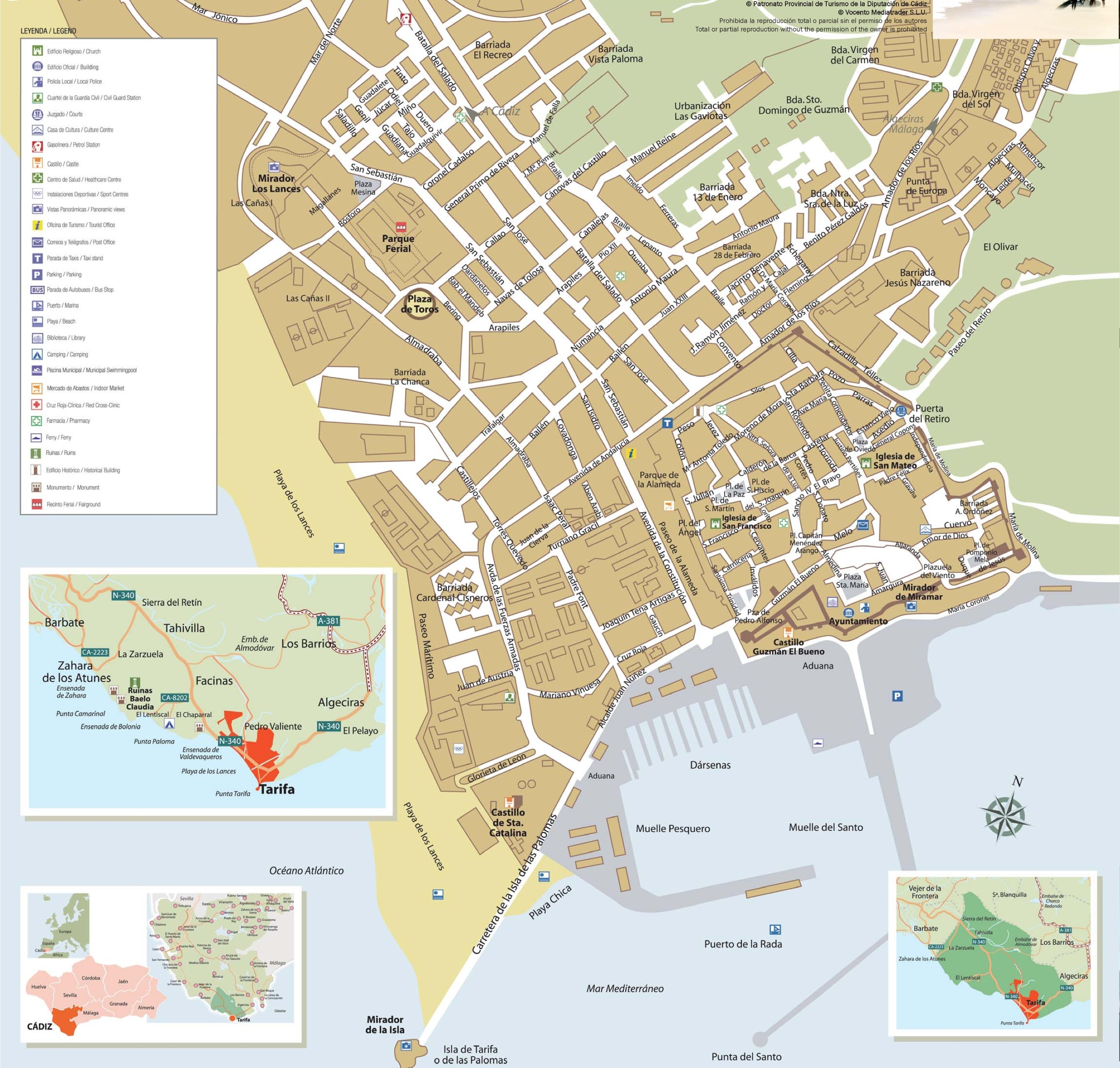 Tarifa tourist map