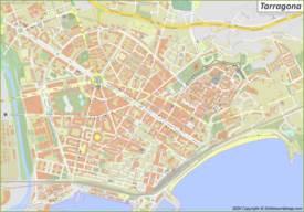 Mapa detallado de Tarragona