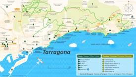 Mapa Turístico del Área de Tarragona