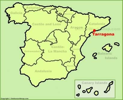Tarragona Localización Mapa