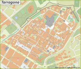Mapa del casco antiguo de Tarragona
