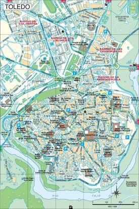 Toledo city center map