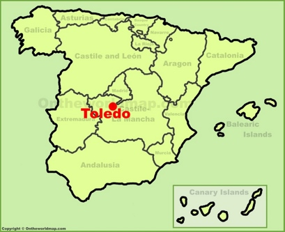 Toledo Location Map