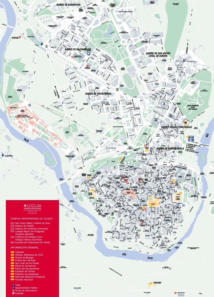 Toledo sightseeing map