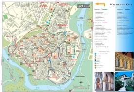 Toledo tourist map