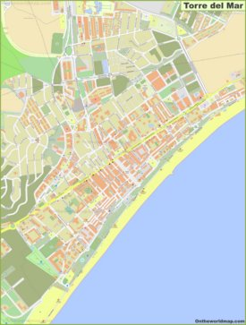 Detailed map of Torre del Mar