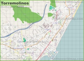 Large detailed map of Torremolinos