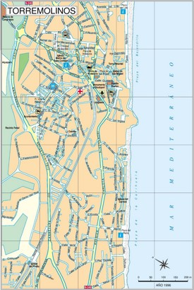 Torremolinos tourist map