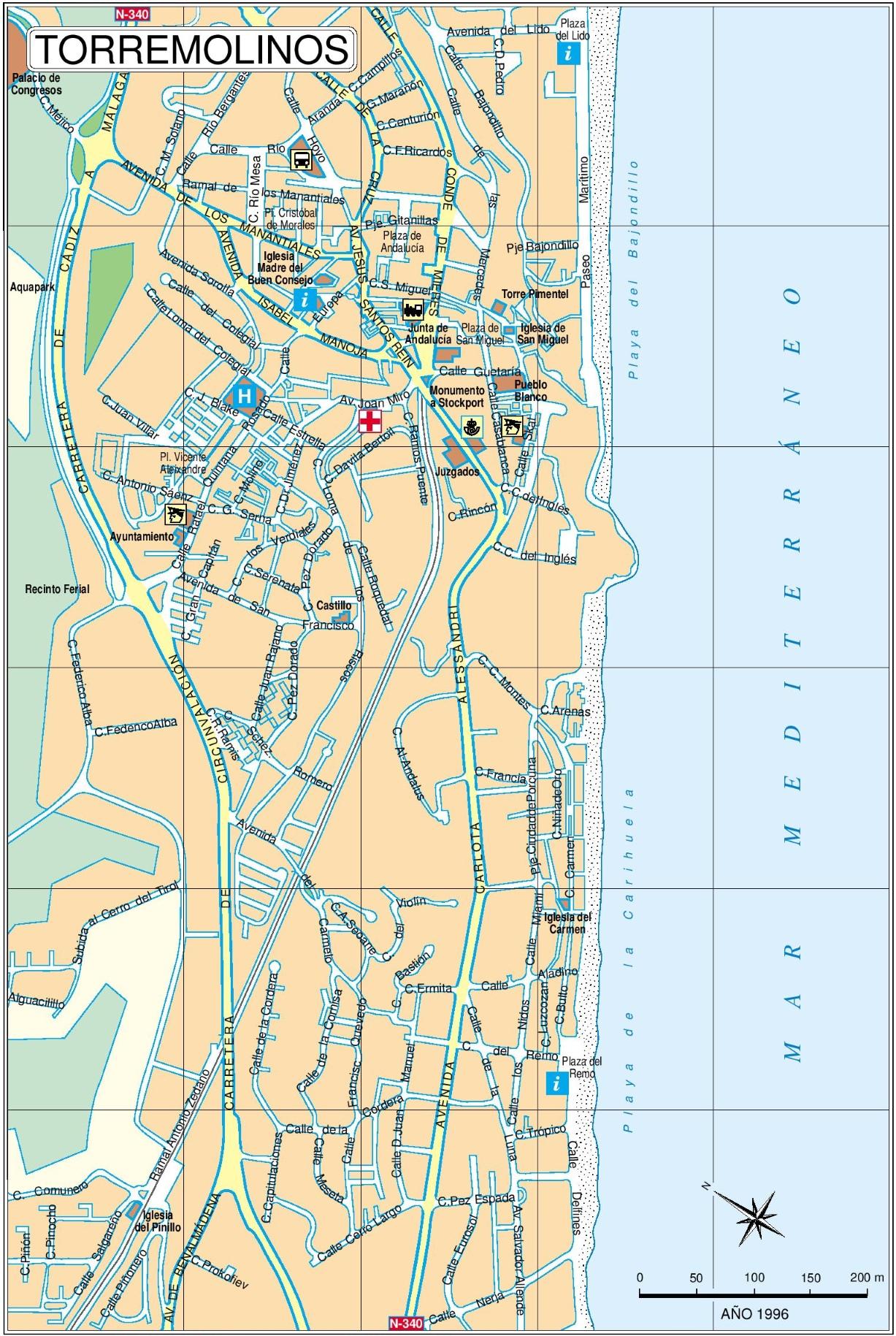 Torremolinos tourist map