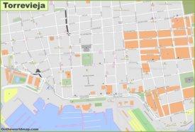 Torrevieja city center map