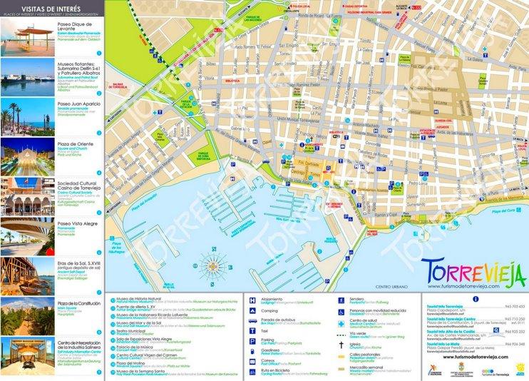 Torrevieja tourist map