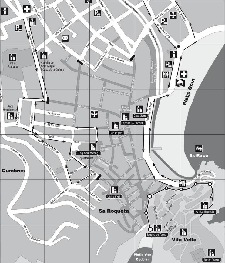 Tossa de Mar city center map