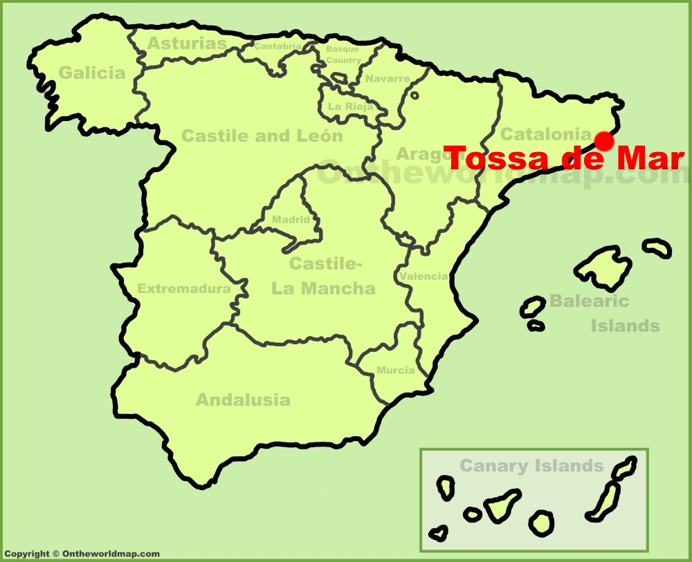 Tossa de Mar Maps Spain Maps of Tossa de Mar