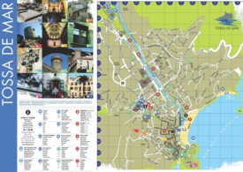 Tossa de Mar tourist map