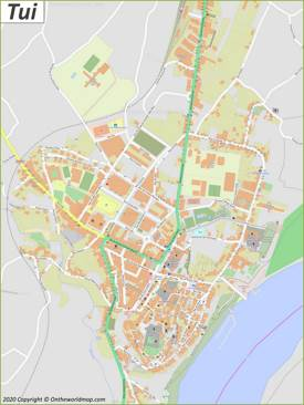Detailed Map of Tui