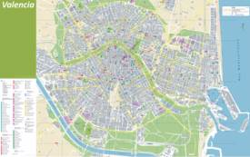 Mapa detallado de Valencia