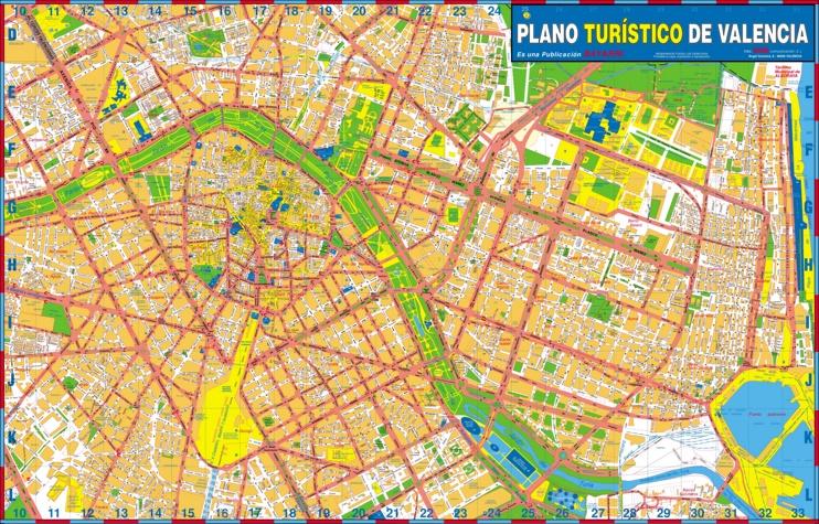 Gran Mapa Turístico detallado de Valencia